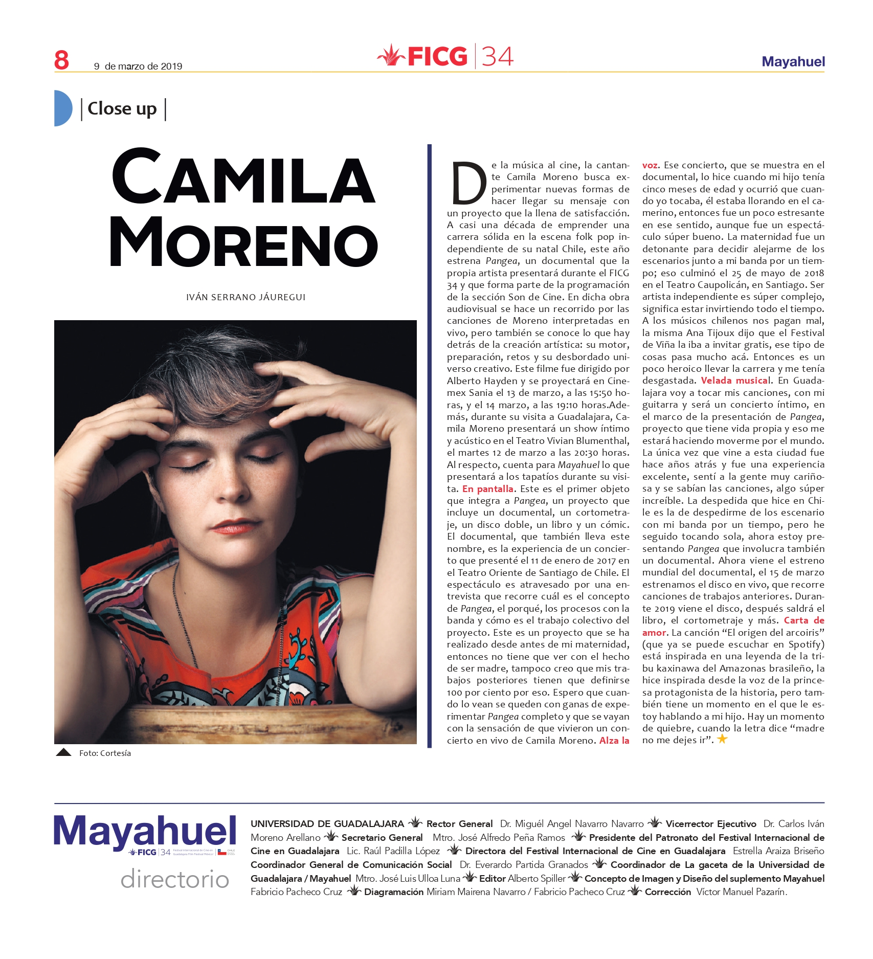 Close up: Camila Moreno