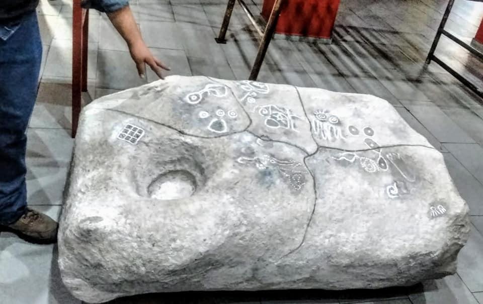 Maqueta de la Rosetta, petroglifo de San Agustín , Tlajomulco, el petrograbado más grande del AMG
