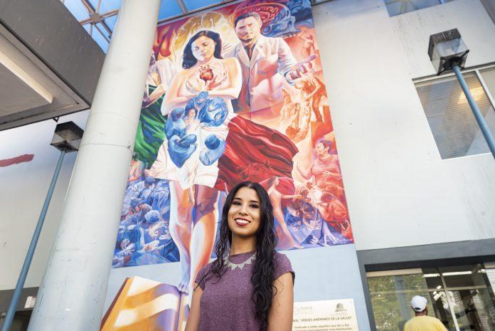 Mural de Adry del Rocío en ISSSTE Valentín Gómez Farías