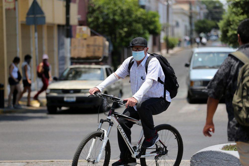 Ciclista durante la pandemia por Covid-19