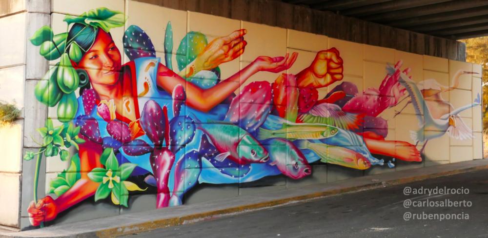 Mural de Adry del Rocío en Poncitlán